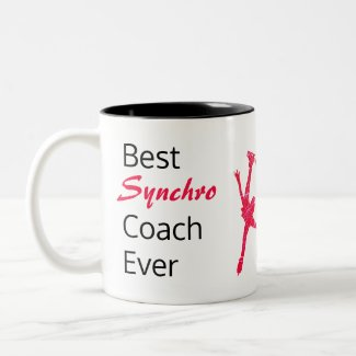 Best synchro skating coach mug - red arabesque