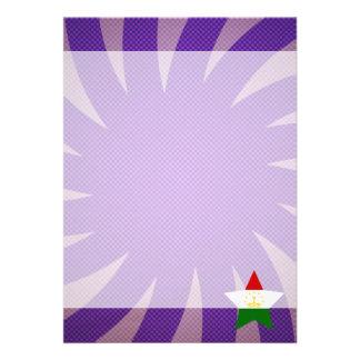 """Best Tajikistan Flag Design 5"""" X 7"""" Invitation Card"""