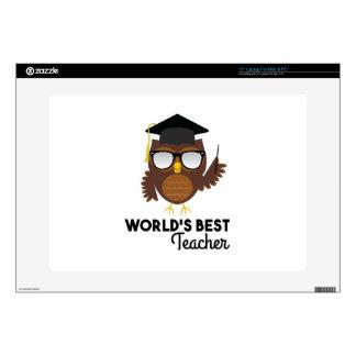 "Best Teacher 15"" Laptop Skins"