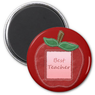 Best Teacher Apple 2 Inch Round Magnet