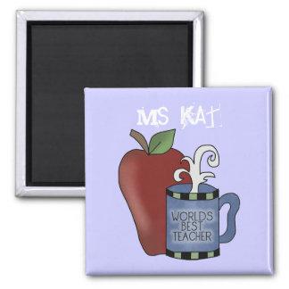 Best Teacher Apple Coffee Cup Fridge Magnet