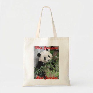 Best Teacher Canvas Bag, Panda, Thank You Tote Bag