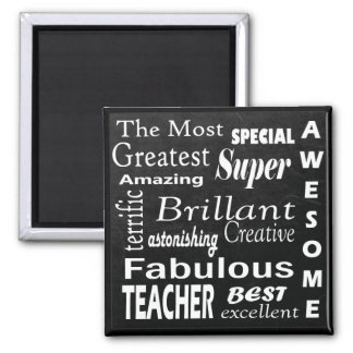 Best Teacher Chalkboard Subway Typography Art Magnet