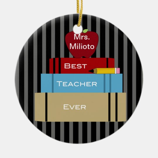 Best Teacher Ever Christmas Ornament