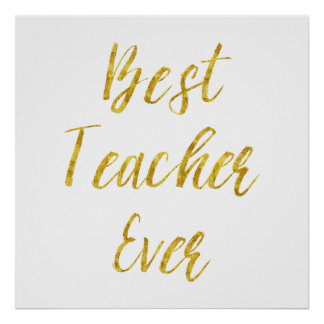 Best Teacher Posters | Zazzle