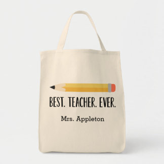 Best Teacher Ever | Personalized Tote Bag Gift