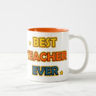 Best Teacher ever Two-Tone Coffee Mug