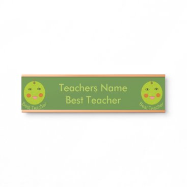 Best Teacher Happy Apple Personalized Hanging Sign