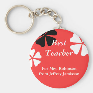 Best Teacher Keychain (Key Chain), Red