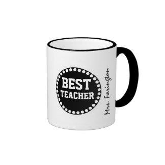 Best Teacher Modern Circle Custom Name V02F Mug