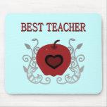 Best Teacher Red Apple Mouse Pad