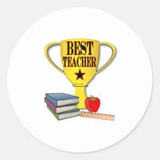 Best Teacher Classic Round Sticker