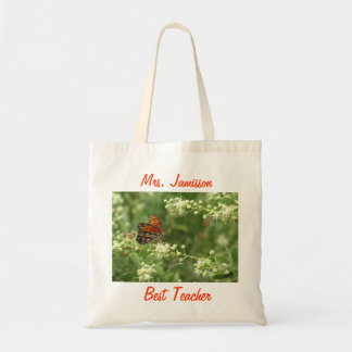 Best Teacher Tote Bag, Butterfly, Thank You