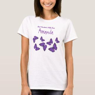 Best Teacher's Aide Teacher Ever Butterflies V03 T-Shirt