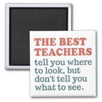 BEST TEACHERS custom color magnet