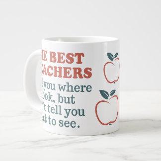 BEST TEACHERS custom monogram Jumbo mug