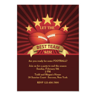 Best Team Football Party Invitation