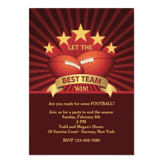 best team football party invitation zazzle com