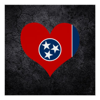 Best Tennessean Heart flag Perfect Poster