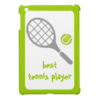 Best tennis player, tennis racket and ball iPad mini case