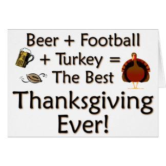 Best Thanksgiving Ever Card