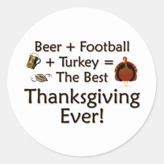 Best Thanksgiving Ever Classic Round Sticker