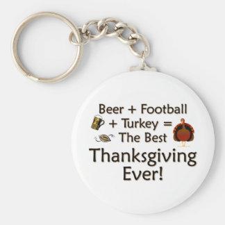 Best Thanksgiving Ever Basic Round Button Keychain