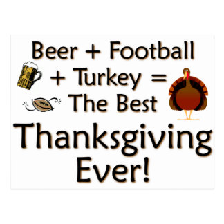 Best Thanksgiving Ever Postcard