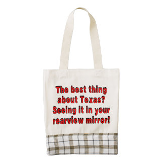 Best thing about Texas? Seeing it in your rearview Zazzle HEART Tote Bag