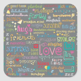 Best Things in Life Square Sticker