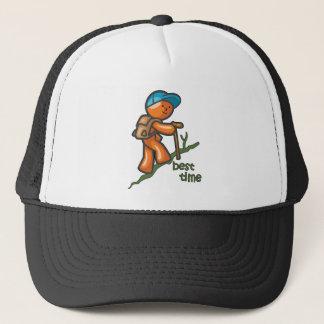 Best Time Hiking Design Trucker Hat