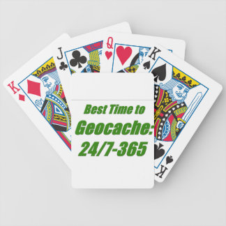Best Time to Geocache Poker Cards