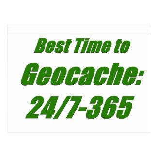 Best Time to Geocache Postcard