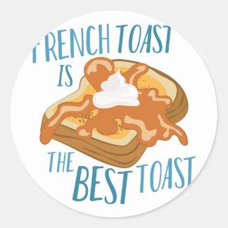 Best Toast Classic Round Sticker