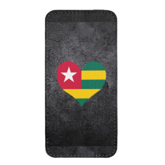 Best Togolese Heart flag iPhone 5 Pouch