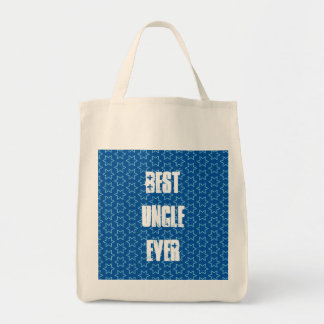 Best UNCLE Ever Blue Star Pattern Gift Idea Tote Bag