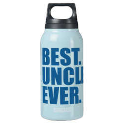 SIGG Thermo Bottle (0.5L) with Best. Uncle. Ever. (blue) design