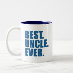 Two-Tone Mug with Best. Uncle. Ever. (blue) design