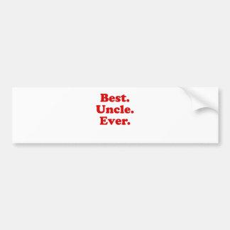 Best Uncle Ever Bumper Sticker