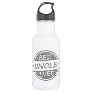 Best Uncle Ever Gray Water Bottle