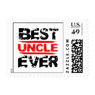 Best UNCLE Ever Grunge Style Red and Black Z811 Postage