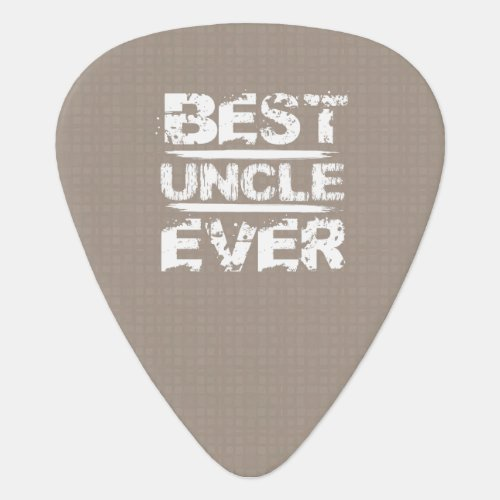 Best UNCLE Ever Grunge Style Tan and White C811A Guitar Pick