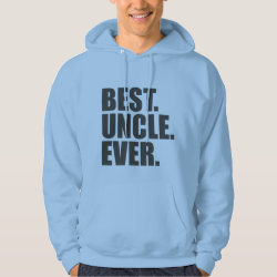 Men's Basic Hooded Sweatshirt with Best. Uncle. Ever. design