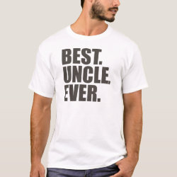 Men's Basic T-Shirt with Best. Uncle. Ever. design