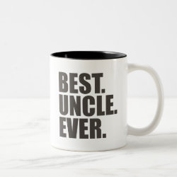 Two-Tone Mug with Best. Uncle. Ever. design