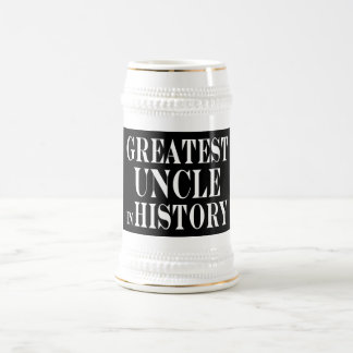 Best Uncles : Greatest Uncle in History 18 Oz Beer Stein