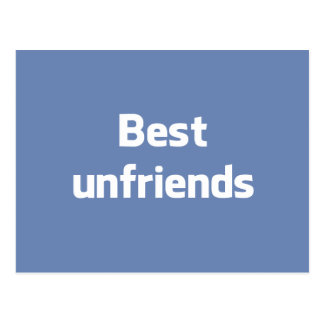 Best Unfriends Postcard