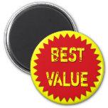 BEST VALUE RETAIL SALES LABEL magnets