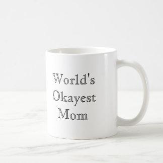 [Best Value] World's Okayest Mom Classic White Coffee Mug