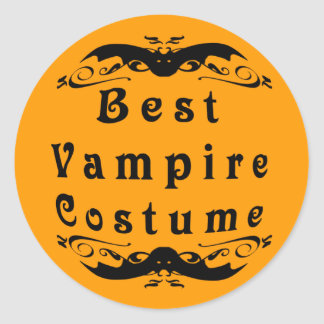 Best Vampire Costume Award Classic Round Sticker